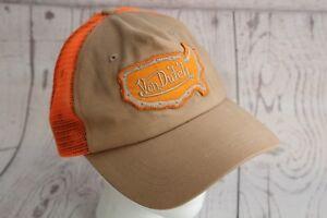 Image is loading Von-Dutch-Trucker-Hat-Cap-Orange-Brown-Embroidered- 41da7a673713