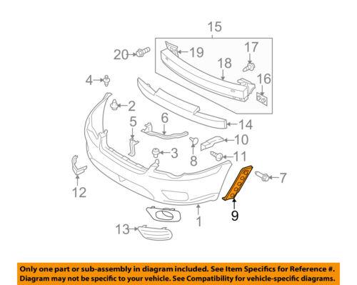 SUBARU OEM 05-07 Legacy Front Bumper-Side Bracket Left 57707AG16A