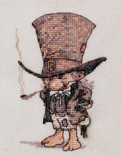 A GENTLEMAN IN A HAT Counted Cross Stitch Kit NEOCRAFT