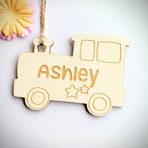 Custom Train Tag Personalised Wooden Kids Gift Tag