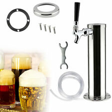 Beer Dispenser Faucet Draft Single Tap Stainless Steel Tower Homebrew Kegerator