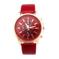 New Geneva Leather Watch Analog Quartz Dial Wrist Watch Unisex Men Sport Watches