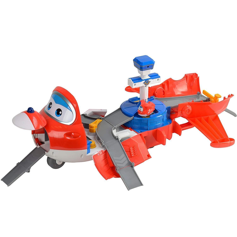 4x Super Wings stjärnat Tower 2-in-1 leksaksspelplan inkluderar Figur Jobmassa