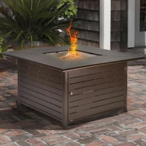 Outdoor-Backyard-Patio-LP-Propane-Gas-Fire-Pit-Heater-Square-Table-With-Cover