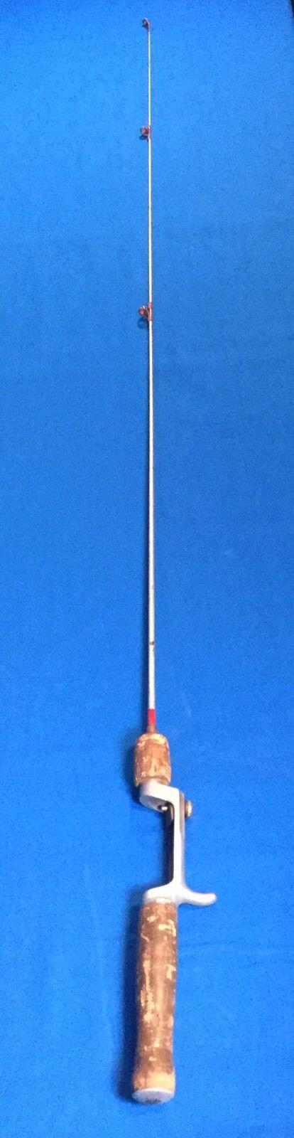 Vtg American Fork & Hoe Square Steel Bait Casting Rod Cork Handle Geneva OH
