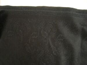 4-5-yds-HOLLAND-SHERRY-WOOL-Cashmere-FABRIC-Jacquard-9-oz-Suiting-Black-162-034-BTP