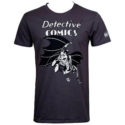 Batman 80th Retro Men/'s T-Shirt Grey