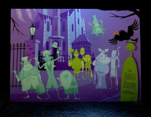 "Josh Agle Card SHAG Rare 2009 Haunted Mansion 40th /""DISNEYWORLD/"" Postcard NEW"