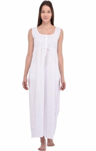 blanche femmes pour en nuit de pur Chemise coton EaRwq7znxI