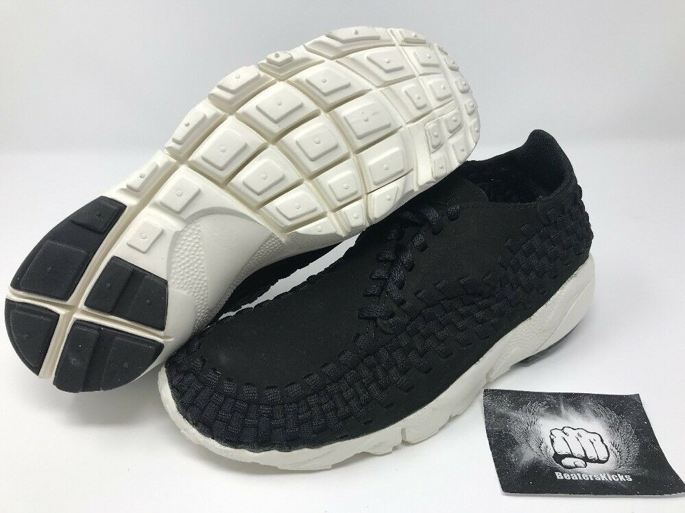 NIKE LAB MENS MENS MENS AIR FOOTSCAPE WOVEN NM BLACK WHITE Size 7.5 [874892-001] aa9552
