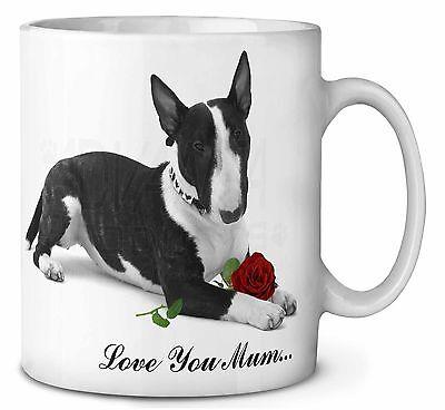 "Bull Terrier (b+w) ""love You Mum"" Caffè / Tè Tazza Natale Stock, Ad-but2r2lymmg- Firm In Structure"