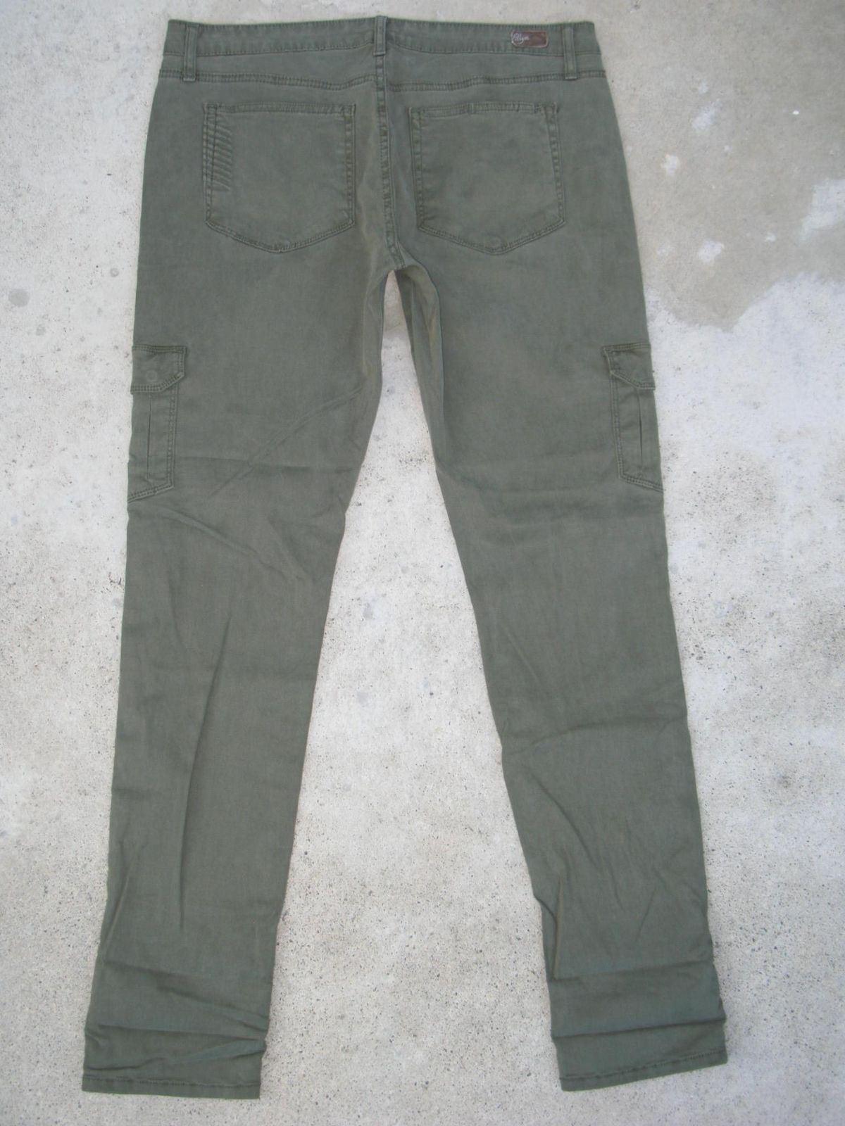 Paige Premium Jeans Womens Layne Skinny Cargo Sz 30 Stretchy Green