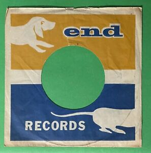 END ORIGINAL 45 RPM COMPANY RECORD PAPER SLEEVE  *ONLY* AS SHOWN