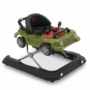 Jeep Classic Wrangler 3 in 1 Activity Baby Walker & Toy Car, Anniversary Green