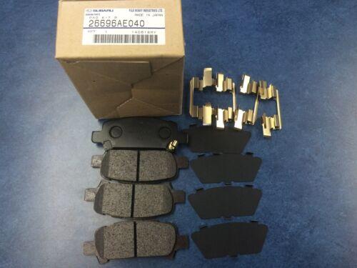 Genuine OEM Subaru Legacy Rear Brake Pad Set W// CLIPS 2005-2009 26696AE040 GT