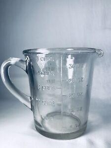 Vintage-Clear-Depression-Glass-Measuring-Jug-2-Pints-40ozs-5-Cups