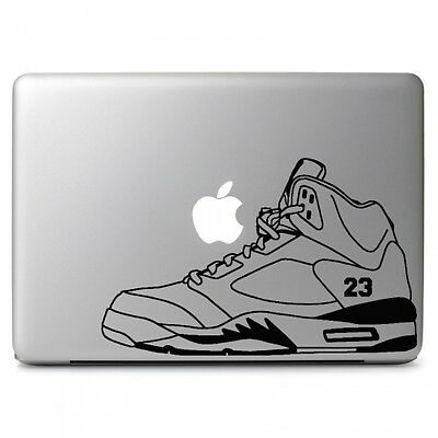"Air Jordan 5 Retro Shoes Decal Sticker Skin for Macbook Air & Pro 13"" 15"" 17"""