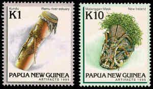 1995-PAPUA-NEW-GUINEA-Artefacts-III-2-MNH