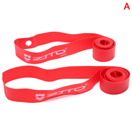 1Pair PVC Rim Tapes Strips for Mountain Bike Road Bicycle Folding Tire CushionEL