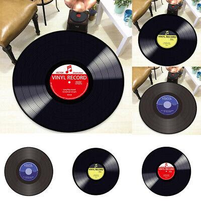 Vinyl Record Printed Soft Fabric Round