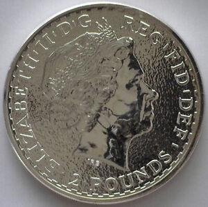 2015 1 oz British Silver Britannia 2 lb Bullion Uncirculated Coin