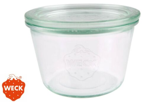 6 Stück  Weckgläser Sturzglas WECK® 1//4L 370 ml Einkochgläser Rundrandglas 741