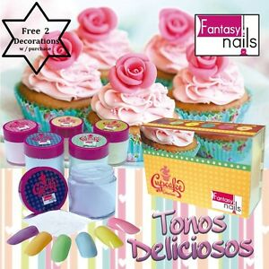 Fantasy nails products cupcake acrylic collection free 2 for Acrylic nail decoration supplies