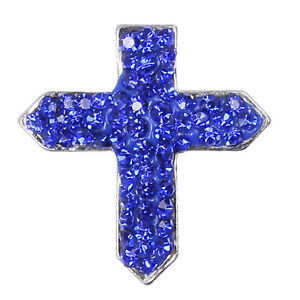 Beauty-Rhinestone-Dark-Blue-Cross-Charm-Chunk-Snap-Button-for-Noosa-Bracelet