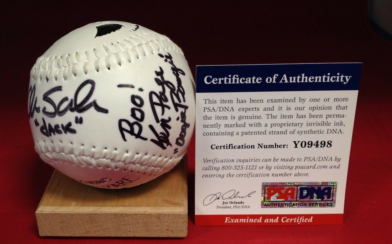 Chris Sarandon Ken Page Signed Nightmare Before Christmas Baseball - PSA/DNA