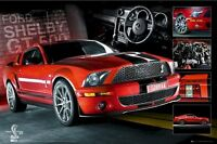 Ford Mustang Shelby Gt500 Steering Wheel 24x36 Poster Autos New/rolled