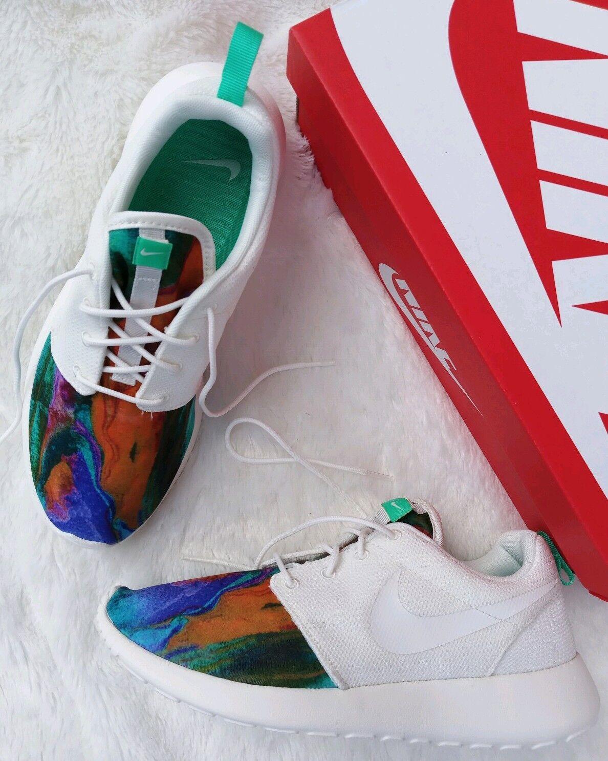8.5 uomo Nike Roshe One Print Tye Dye AR1950 100 Sail Menta Running scarpe