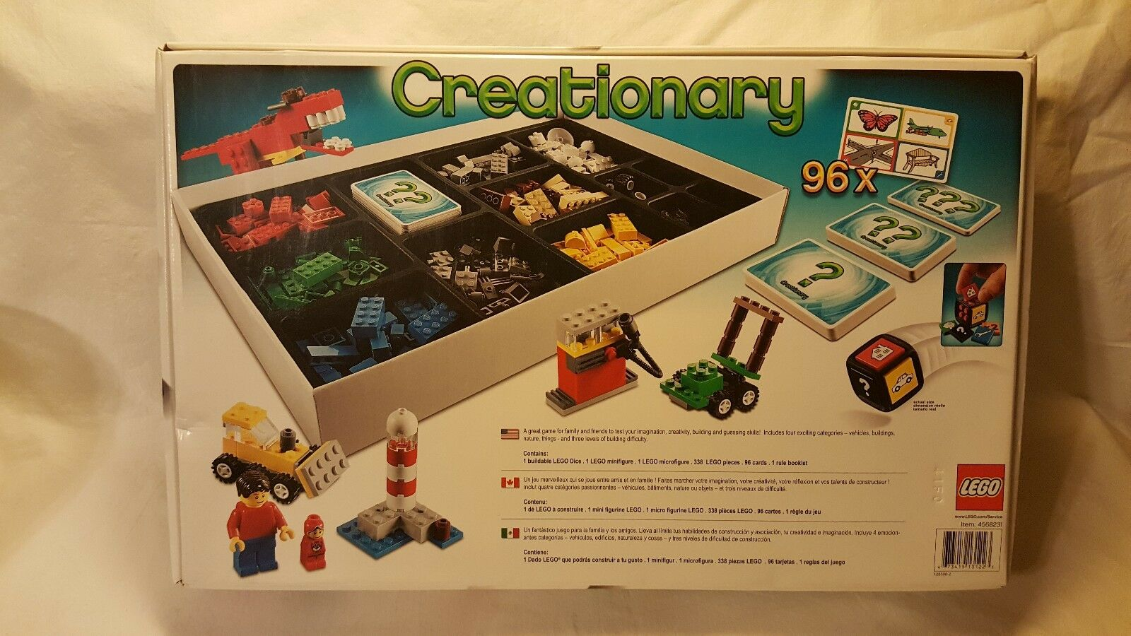 LEGO Creationary Creationary Creationary Game (3844) Building Set In Box Incomplete Discontinued 3d4263