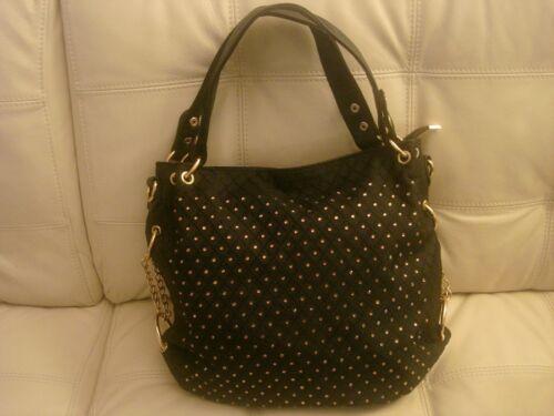 Hardware Nwt Rhinstone Purse Bag Like Gold Tote Leather Large Black Blingfabric NPOym0wv8n