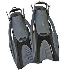 U-S-Divers-Black-Hingeflex-II-Snorkeling-Swimming-Fins-Men-9-13-amp-Women-10-14