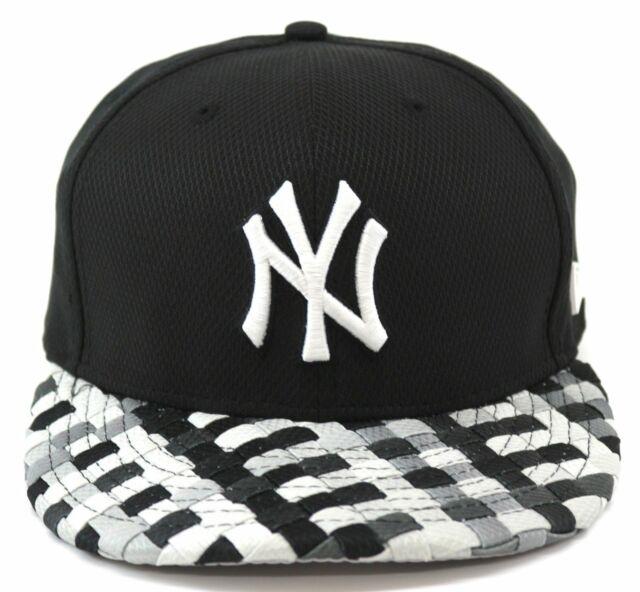 A30 NEW ERA NEW YORK NY YANKEES Woven Check Visor Snapback Baseball Cap S//M