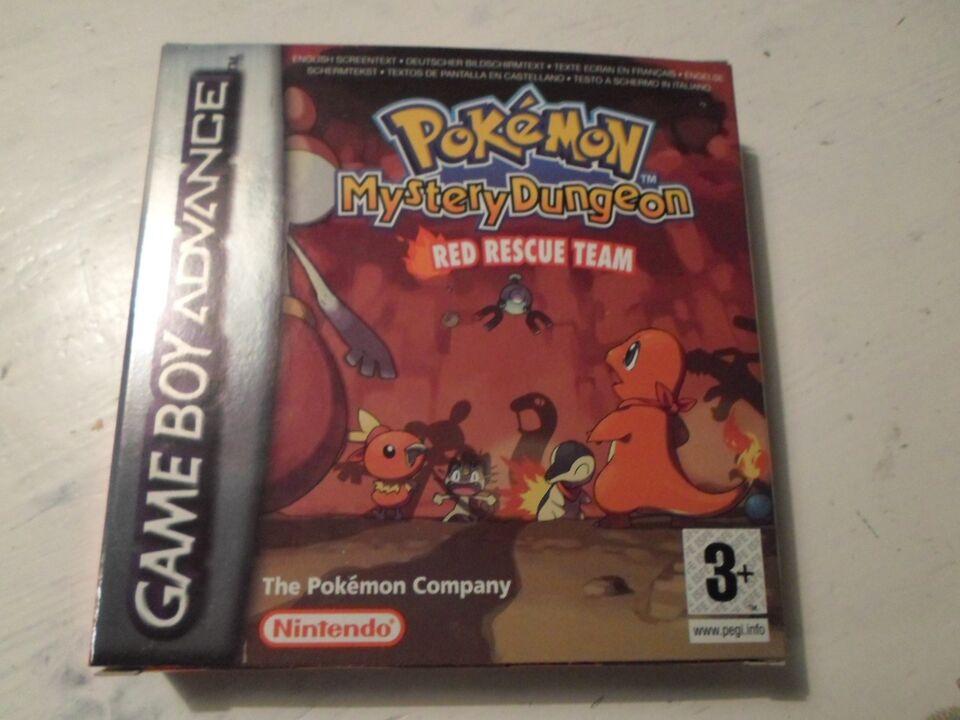 Pokémon Mystery Dungeon Red Rescue team, Gameboy Advance