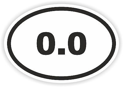 """I Don/'t Run 0.0 Decal 3/"""" inch Oval Reflective Auto Helmet Decal Sticker Funny"""