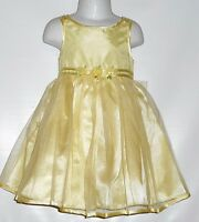 Youngland Toddler Girls Party Pageant Special Occasion Dress Yellow 3t
