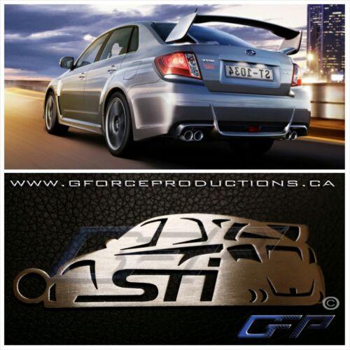 Subaru Impreza WRX STI w//wing JDM Stainless Steel custom Key chain GE GH GR GV