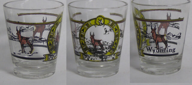 Wyoming Wldlife Shot Glass #2170
