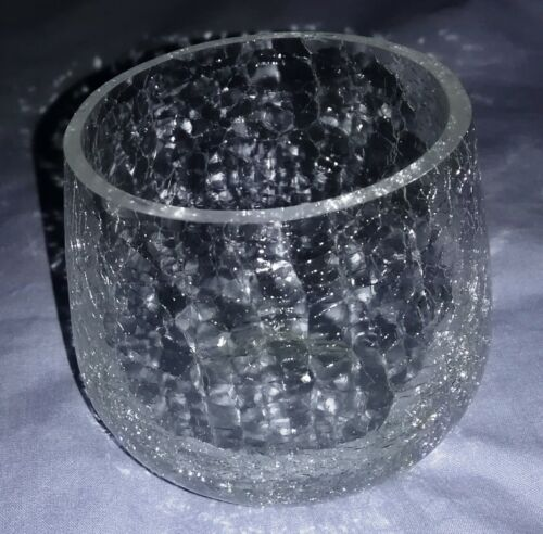 Crystal Homeco EUC Candle Holders – Ceramic Crackle Glass Hanging Glade