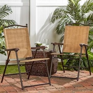 Magnificent Details About Pair Of Garden Chairs Patio Furniture Steel Frame Foldable Vintage Patio Chairs Ncnpc Chair Design For Home Ncnpcorg