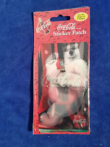 "COCA-COLA 2 IMAGES STICKER PATCH Polar Bear - Coke 3"" x 5 1/4"""