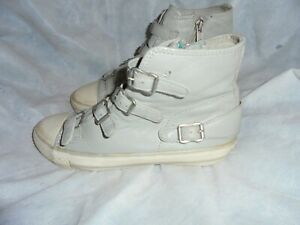 Grey Ankle Women Vgc Ash Trainers Uk Leather Eu Buckle Size 5 zip 38 XSg5qwT5x