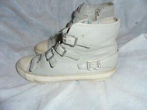 38 Ash Eu in Sneakers Vgc Uk taglia cerniera grigia pelle zip 5 con e Donna BBqxCg
