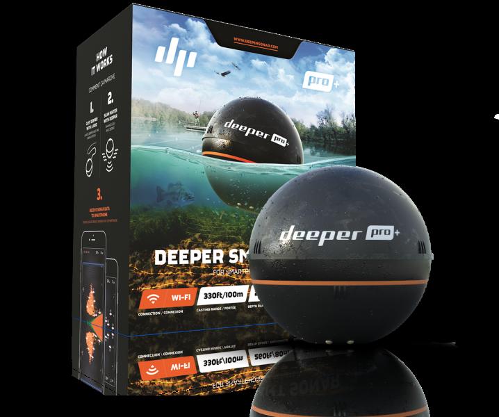 Deeper Pro Plus + - Smart Sonar  mit WIFI + GPS für iOS und Android