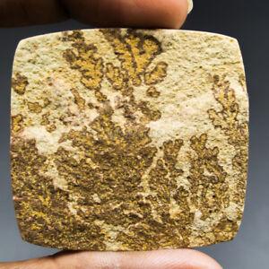 Cts-127-45-Natural-Psilomelane-Dendritic-Limestone-Square-Cabochon-Gemstone