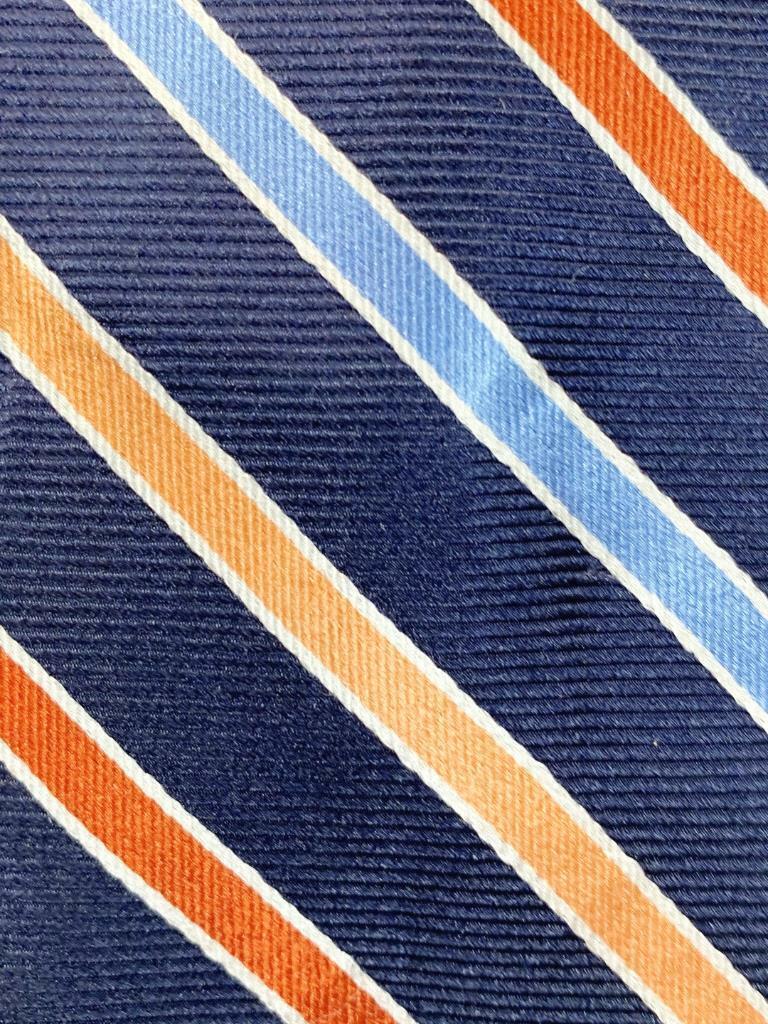 Chaps Dunkelblau Orange Silber Blau Streifen 64