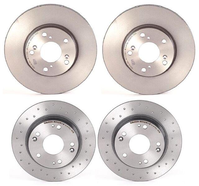 Brembo Front Rear UV Coated Brake Disc Rotors Kit For