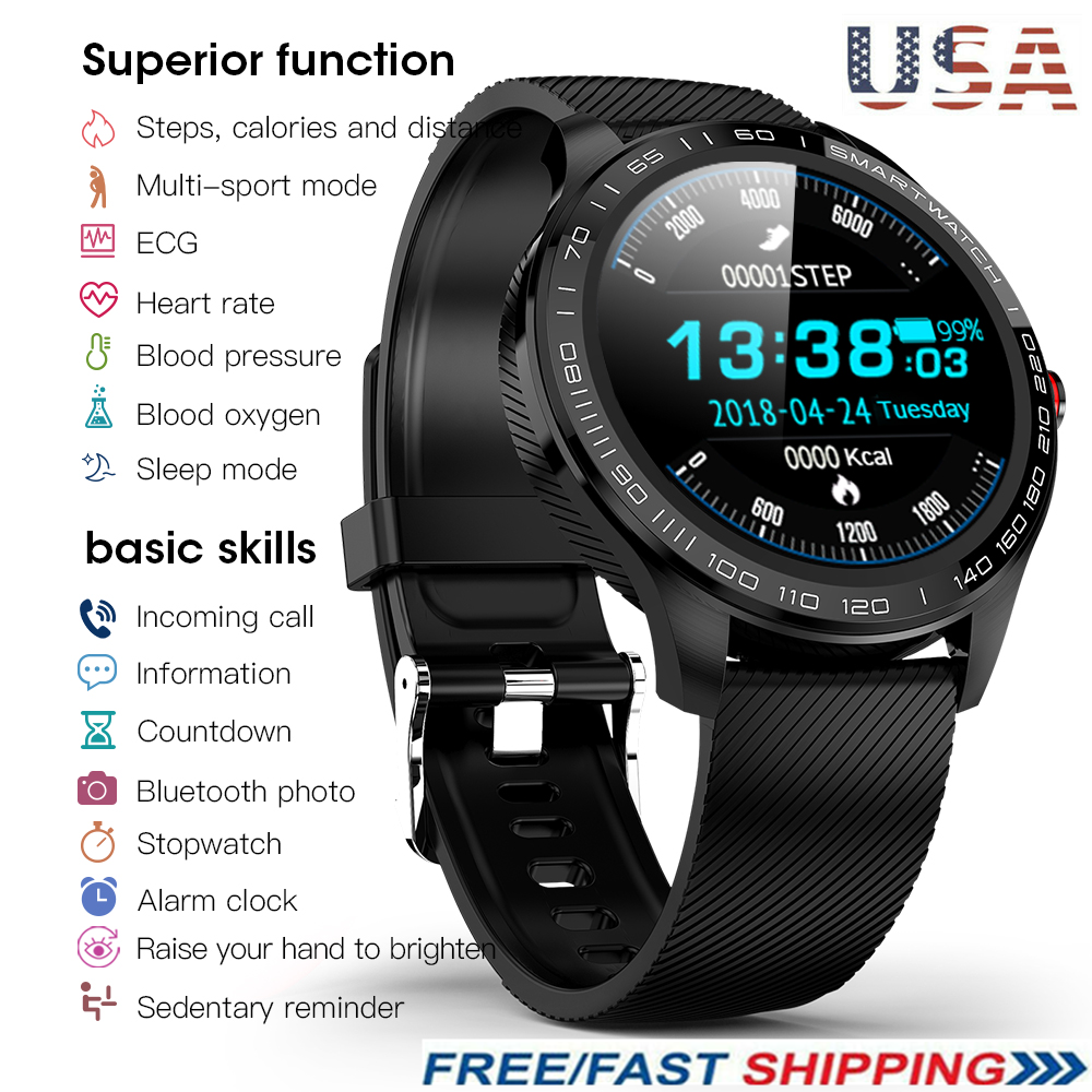 L9 Smart Watch IP68 PPG ECG Blood Oxygen Pressure Heart Rate For Android iPhone blood ecg Featured heart ip68 oxygen ppg pressure rate smart watch